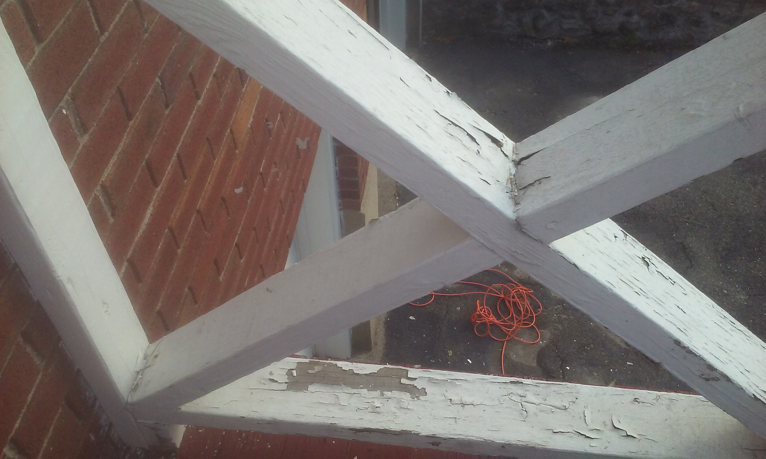 Painting an exterior staircase - Exterior paint peeling concept ...